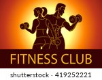 man and woman fitness template. ... | Shutterstock . vector #419252221