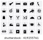 hotel icon set isolated on... | Shutterstock .eps vector #419255761
