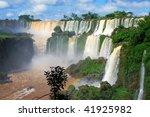 Iguazu falls in Misiones province, Argentina - stock photo