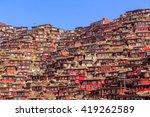 top view monastery at larung... | Shutterstock . vector #419262589