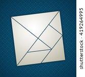 tangram square  seven tans. cut ...   Shutterstock .eps vector #419264995