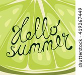 lime background. greeting card... | Shutterstock . vector #419267449