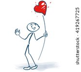 stick figures with a heart on a ...   Shutterstock .eps vector #419267725