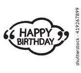 happy birthday illustration... | Shutterstock .eps vector #419267899