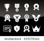 medals and cup icons. vector... | Shutterstock .eps vector #419270161