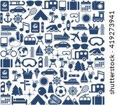travel icons | Shutterstock .eps vector #419273941