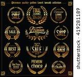 premium quality golden laurel... | Shutterstock .eps vector #419281189