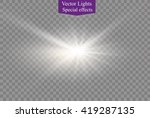 glow light effect. star burst... | Shutterstock .eps vector #419287135