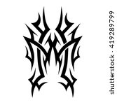 tribal tattoo vector designs... | Shutterstock .eps vector #419289799