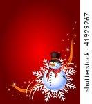Decorative Christmas Card With...