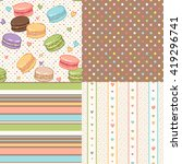 set of cute seamless patterns... | Shutterstock .eps vector #419296741
