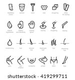 thin lines web icon set... | Shutterstock .eps vector #419299711