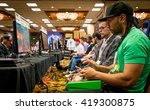 Small photo of SACRAMENTO - MARCH 26: Unidentified video gamers playing a casual game of Street Fighter V on March 26, 2016 at NCR NorCal Regionals, the premier fighting game tournament.