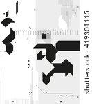 abstract monochrome geometric... | Shutterstock .eps vector #419301115