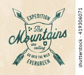 mountain expedition print for t ... | Shutterstock .eps vector #419306071