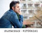 portrait of young man standing... | Shutterstock . vector #419306161