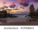 colorful sunset at the beach | Shutterstock . vector #419308651