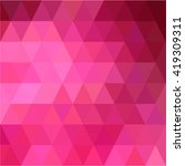 pink triangular love background | Shutterstock .eps vector #419309311