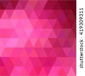 pink triangular love background   Shutterstock .eps vector #419309311