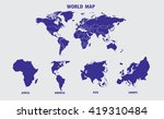 world map illustration | Shutterstock .eps vector #419310484
