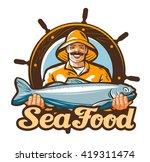 Seafood Vector Logo. Fishing Or ...