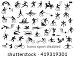 black icons on white background ... | Shutterstock .eps vector #419319301