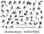 black icons on white background ... | Shutterstock .eps vector #419319301