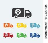 pet food delivery truck. pets... | Shutterstock .eps vector #419320735