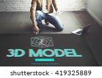 3d three dimensional futuristic ...   Shutterstock . vector #419325889
