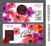 gift voucher template with... | Shutterstock .eps vector #419330509