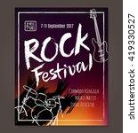 rock event poster or flyer... | Shutterstock .eps vector #419330527