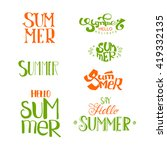summer calligraphic designs set.... | Shutterstock .eps vector #419332135