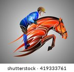 equestrian  | Shutterstock .eps vector #419333761