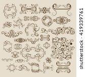 floral ornamet set | Shutterstock .eps vector #419339761