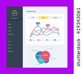 flat dashboard  set of ui web... | Shutterstock .eps vector #419343061