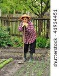 senior woman gardening | Shutterstock . vector #41934451