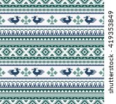 ethnic seamless patterns ... | Shutterstock .eps vector #419353849