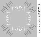 circular pattern of zodiac... | Shutterstock . vector #419357314