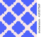 blue ikat on a background.... | Shutterstock .eps vector #419357569