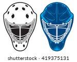 goalie helmet | Shutterstock .eps vector #419375131