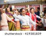 bangkok  april 24  songkran... | Shutterstock . vector #419381839