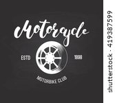 vector motorcycle club logo for ... | Shutterstock .eps vector #419387599