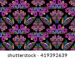 abstract embroidery feather... | Shutterstock .eps vector #419392639
