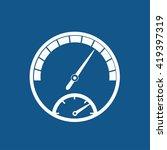 speedometer icon | Shutterstock .eps vector #419397319