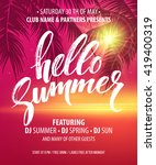 vector summer party poster... | Shutterstock .eps vector #419400319