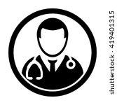 doctor icon   vector | Shutterstock .eps vector #419401315
