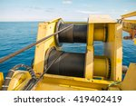 crane winch  steel wire rope... | Shutterstock . vector #419402419