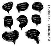 love messages bubble set | Shutterstock .eps vector #419406415