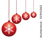beautiful red glass baubles... | Shutterstock .eps vector #41941063