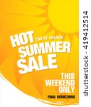 hot summer sale template banner | Shutterstock .eps vector #419412514